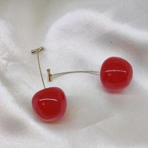 Cherry drop earrings!
